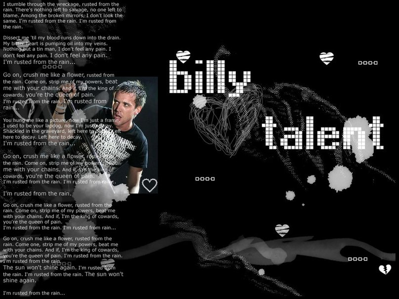 Rusted From The Rain Billy Talent